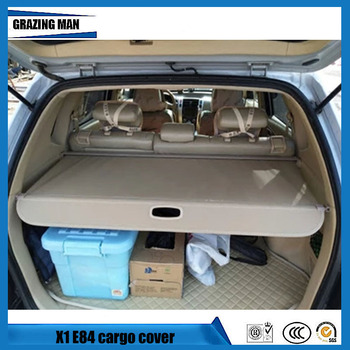 High quality Rear Rear Cargo Cover For For BMW X1 E84 2009-2016 Rear privacy Trunk Screen Security Shield shade Auto Accessories