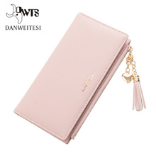 Купить с кэшбэком 2018 Wallet Female For Coins Cute Wallet Women Long Leather Women Wallets Zipper Purses Portefeuille Wallet Female Purse Clutch
