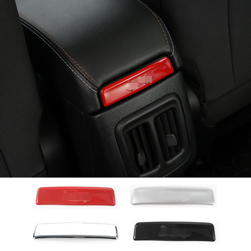 SHINEKA Carbon Fiber Interior Rear Armrest Storage Box Cover Trim Strip Sticker for Jeep Compass 2017 Car Styling Accessories
