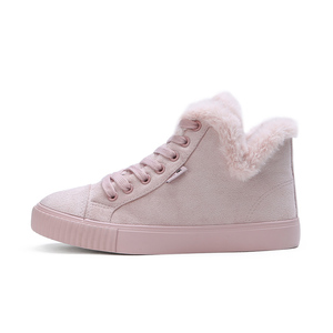 Image 5 - Fur Ball Mid Calf Boots Female Fashion Boots Warm Fur Women Snow Boots Flock Winter Shoes Non Slip Snow Casual Shoe