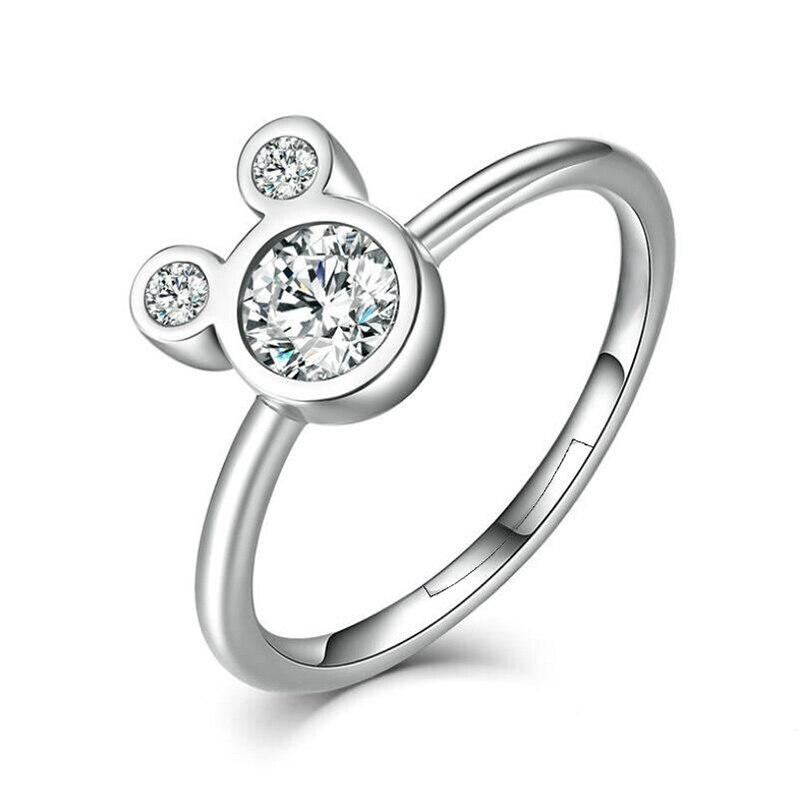 Горячая Распродажа серебряных колец с бантиком для женщин и девушек, сверкающий циркон, подходящие для тонких колец, свадебные ювелирные изделия, Прямая поставка - Цвет основного камня: N32