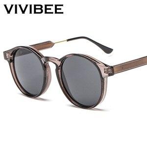 VIVIBEE Gothic Transparent Women Vintage Square Sunglasses 90s Round Sun Glasses 2020 Trending Products UV 400 Men Shades