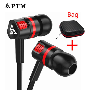 PTM In-ear Earphone  Super Bass Stereo Sound Sport Headset  With Mic for Phones Iphone Samsung Xiaomi Ear Phone 3.5mm For women junerose jr i710 in ear stereo earphone w microphone for iphone samsung htc pink white