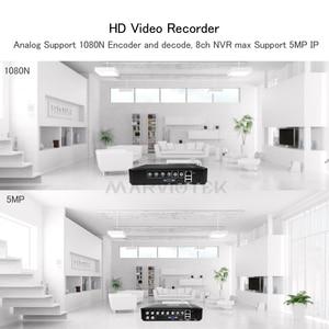 Image 5 - CCTV NVR DVR Max 5MP çıkış 5 IN 1 Mini DVR kaydedici IP 5M 4CH 960P 12CH 1080P 16CH gözetim Video kaydedici hareket algılama