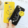 KISSCASE Case For iPhone 7 7 Plus 6 6S Plus Smile Face Chain Bracelet Hard Plastic Cover Bag For iPhone 6 6S 7 7 Plus Capa Coque