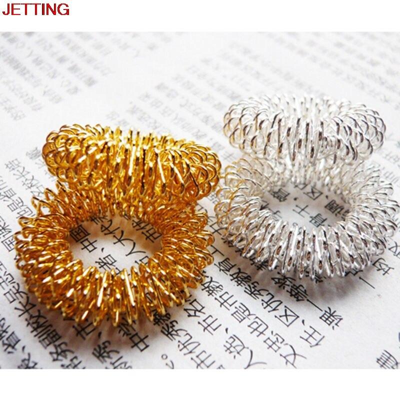 JETTING-Neue Stil Splitter/Gold Stahl Finger Massage Ring Akupunktur Ring Gesundheit Pflege Körper Massager
