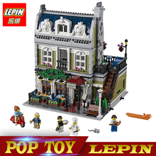 New Lepin 15010 Expert City Street Parisian Restaurant Model Building Kits Blocks Children Toys Compatible legoed With 10243