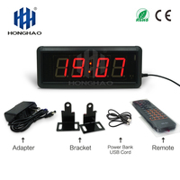 Honghao LED Countdown Wall Clock Digital Clock For Match Sport Countdown Display Home Gym And Exercise Equipment