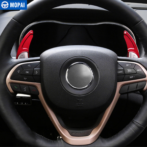Image 5 - MOPAI ABS Car Interior Steering Wheel Gear Panel Paddle Shift Decoration Trim Cover Stickers For Jeep Grand Cherokee 2014 Up