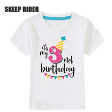 цены Girls T Shirt Birthday Girl Super Soft Cute Kids Shirts Short Sleeves Plain Kids T Shirts Fashion Tops Children Children Tees