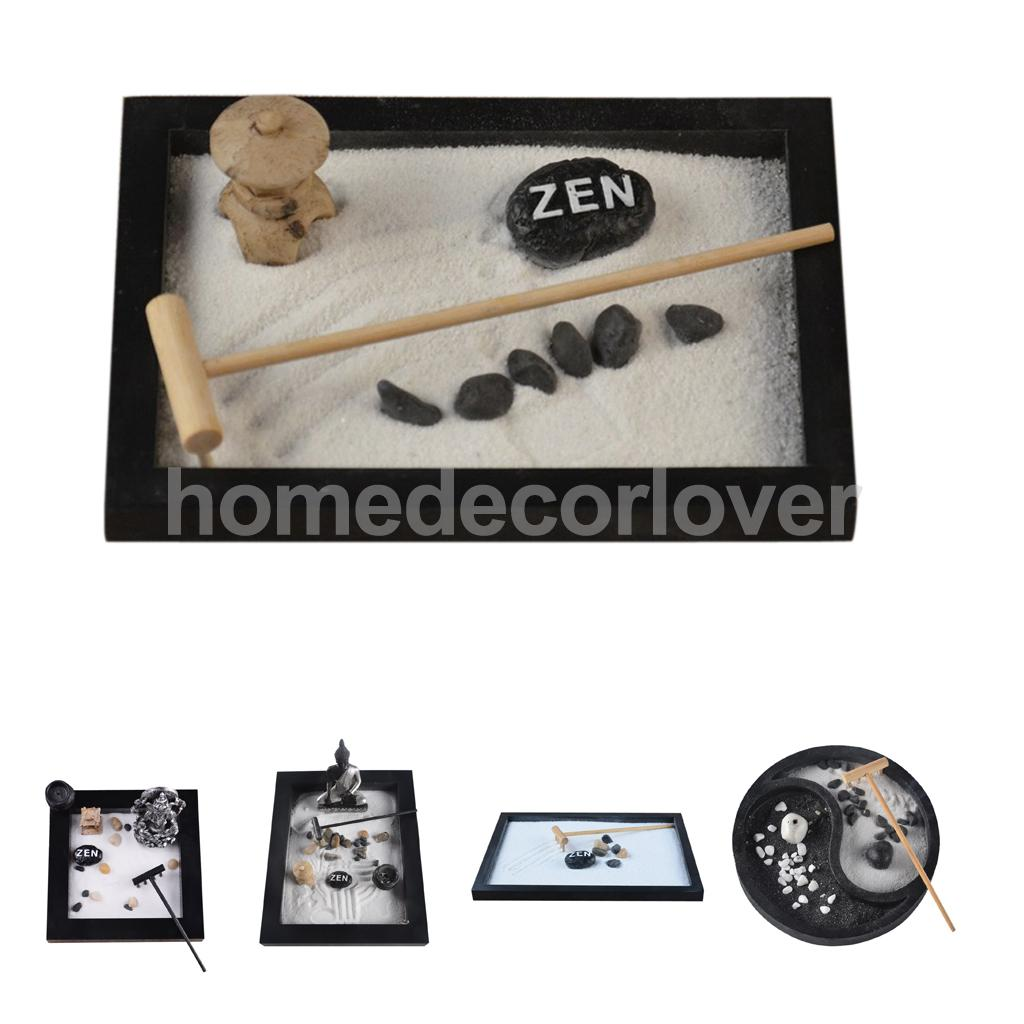 Table Top Zen Garden Us 11 06 22 Off Zen Garden Sand Kit Tabletop Decor Meditation Sand Rocks Rake Feng Shui Decor Pick In Party Diy Decorations From Home Garden On