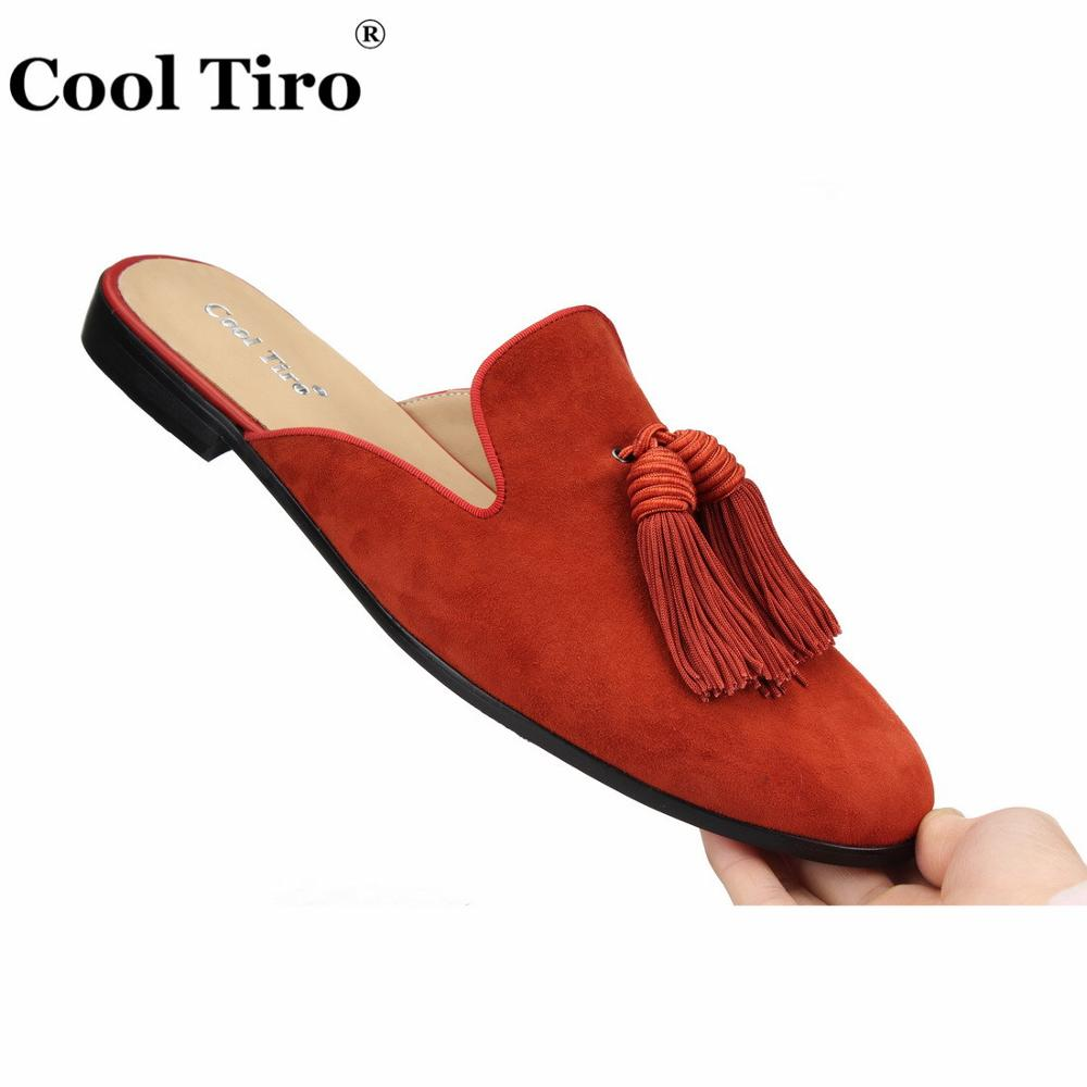 ... prom Dress Shoes Men s Moccasins Leather. US  69.55. Cool Tiro Caramel  Suede Mules Tassel Men Slippers indoor and party dual-use Slip- f9f399244afc