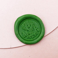 Custom Tree Wedding Wax Seal Stamp Personalized Double Initials Life Of Tree Wedding Invitation Seal