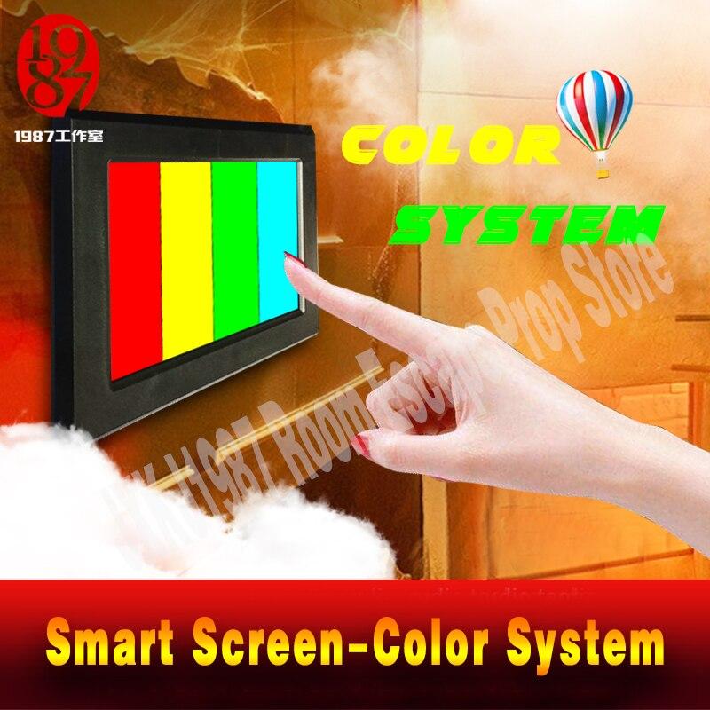 Реалити «Побег из комнаты» Опора цветной пазл приложение умный экран , настройте Цвет pad направо цвет, чтобы разблокировать побег камеры уйти - 6