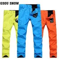 GSOU SNOW Mens Ski Pants Snow Pants Snowboard Warm Waterproof Breathable Cotton XL 10K Free Shipping
