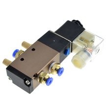 цена на Pneumatic Electric Solenoid Valve 5 Way 2 Position Control Air Gas Magnetic Valve 12V 24V 220V Coil Volt 6mm 8mm Hose Connection