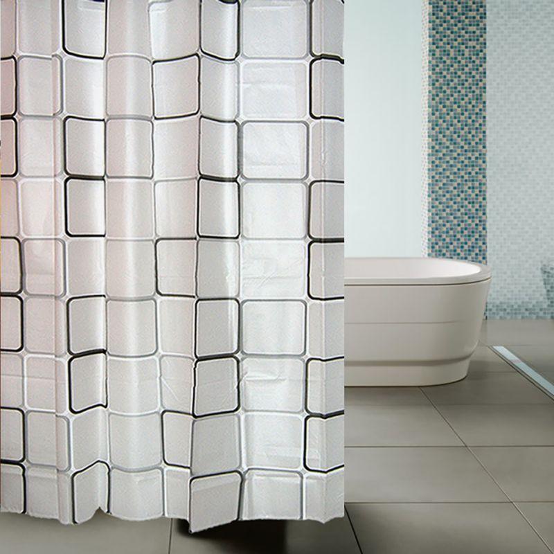 1 stücke PEVA Wasserdicht Bad Dusche Vorhang Bad Vorhänge mit 12 stücke  Haken