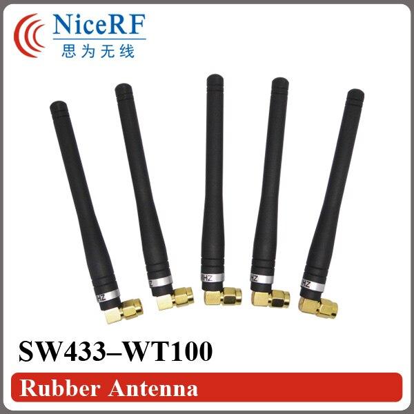 10пцс / лот СВ433-ВТ100 Гумена антена 433МХз за бесплатну доставу