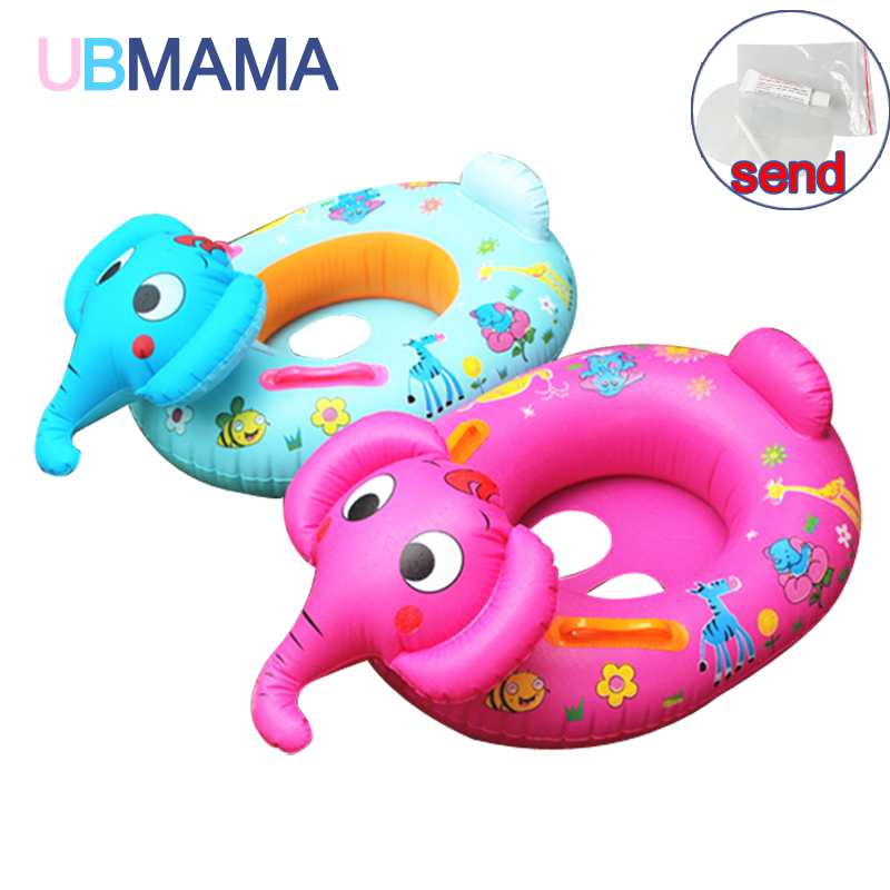 Cute Cartoon Elephant Childrens Thicken Inflatable Seat Float Rings Portable Kids PVC Seat Float Boat Baby Swimming Accessory