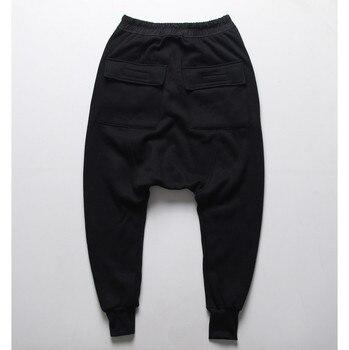 Mens joggers Casual trousers harem pants Men black Fashion swag dance drop crotch Hip Hop sweat pants sweatpants 2