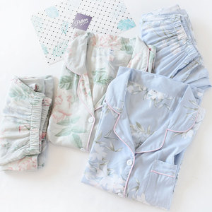 Image 3 - Fresh Floral Summer pajamas sets women sleepwear cozy casual rayon long sleeve quality pyjamas women homewear Hot Sale