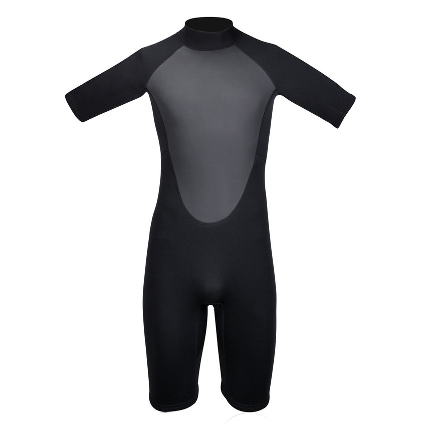 ФОТО REALON Wetsuit Neoprene 3mm Shorty Sleeve Suit for Men Women Diving Swimming Snorkeling Surfing Scuba Dive Spearfishing Jumpsuit