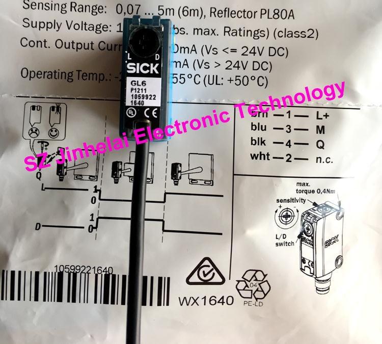 цена на 100% Authentic original GL6-P1211, GL6-P1212 SICK Photoelectric switch