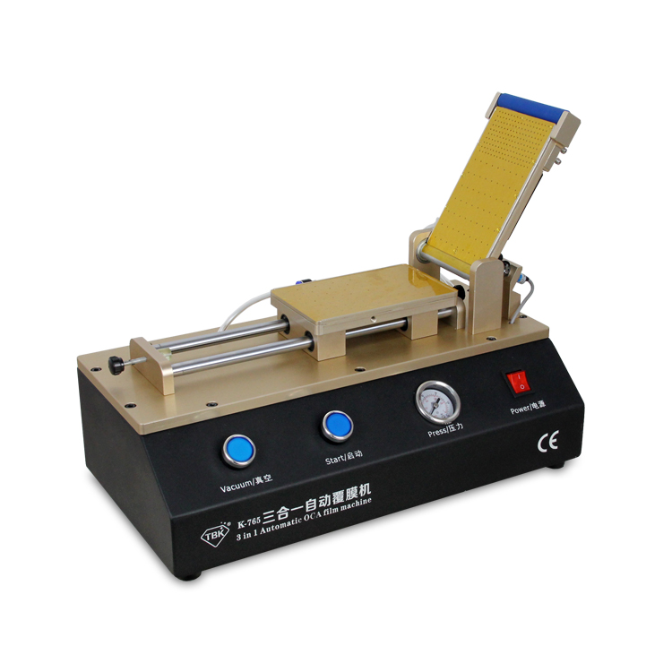 TBK 3 in 1 Automatic OCA Laminator Polarizer Film Laminating Machine for iPhone Samsung Refurbished tbk lcd repair equipment oca vacuum laminator machine 3 in1 automatic oca film machine aluminum alloy automatic separator