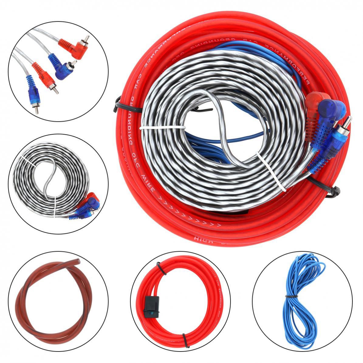 Car Auto Audio Wire Wiring Kit Car Speaker Woofer Cables Car Power Amplifier Audio Line Power Line For Car Modification