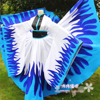 Anime TSUBASA SAKURA HIME cosplay costume blue fire suit Halloween uniform party dress Free Shipping custom made