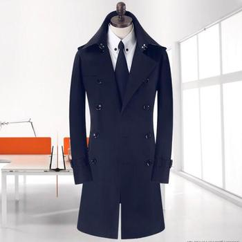 Khaki beige 2020 new autumn slim sexy double breasted trench coat men business outerwear mens trench coat clothing belt S - 9XL