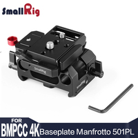 SmallRig Camera Plate Rig Baseplate Kit for Blackmagic Design Pocket Cinema Camera 4K / 6K (for Manfrotto 501PL Compatible) 2266