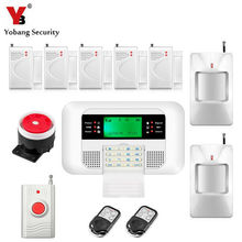 YobangSecurity 433MHz GSM PSTN Dwelling Safety Alarm System Russian Spanish English Voice Door Window Hole Sensor Detector Package