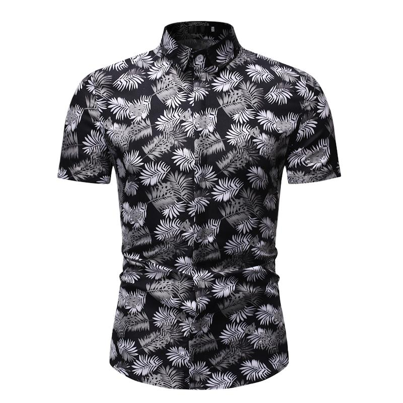 Flower Shirt For Men Short Sleeve Summer Men's Casual Floral Shirt Dress Fashion Casual Camisa Social Blouse Men New