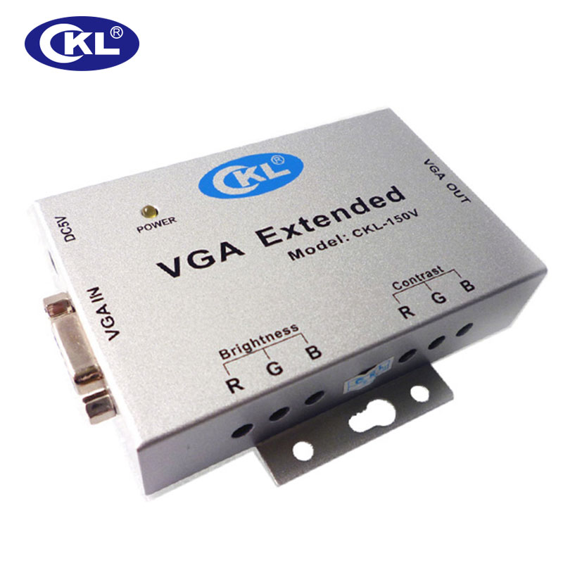 CKL-150V VGA Signal Extender Amplifier up to 150M (492 Ft) Over Cat5e Cable 80 channels hdmi to dvb t modulator hdmi extender over coaxial
