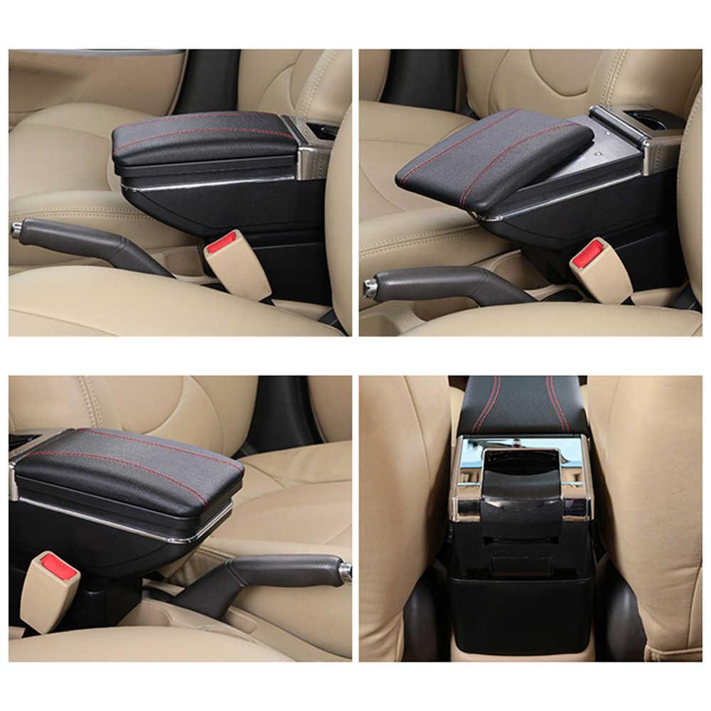 Ящик для хранения для Suzuki Vitara 2015-2019 подлокотник вращающийся подстаканник подлокотник черный кожаный 2016 2018