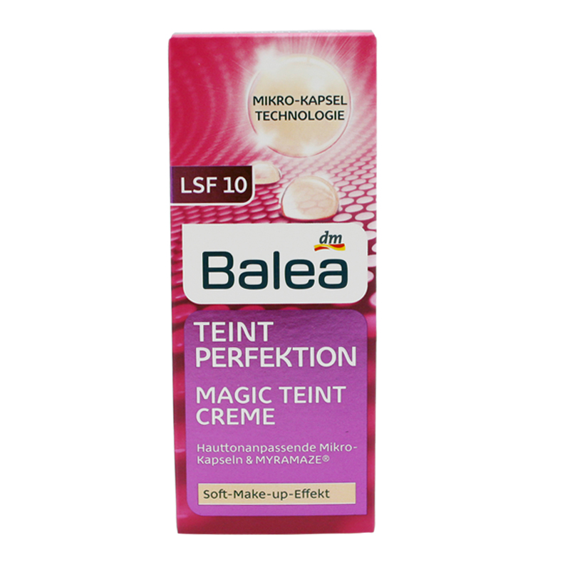 Germany Balea Tinted SPF10 Day Cream Teint Perfection Magic Cream Improves Skin Quality Prevents Skin Aging Soft Make-up Effect