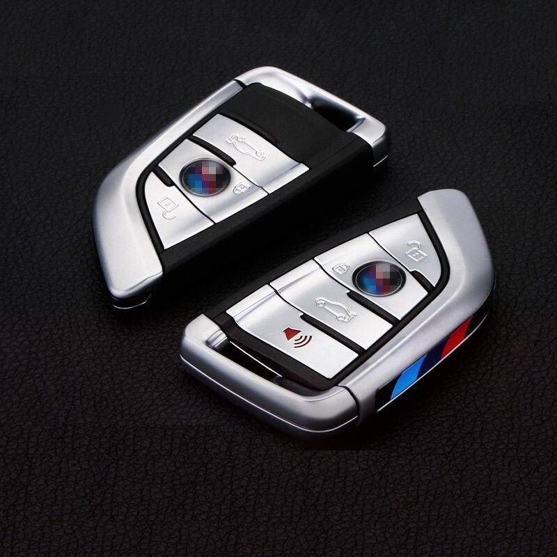 LUNASBORE 2017 nouveau design de voiture 3 boutons/4 boutons clé Shell décoration clé étui pour BMW 2/7 série X1 X5 X6
