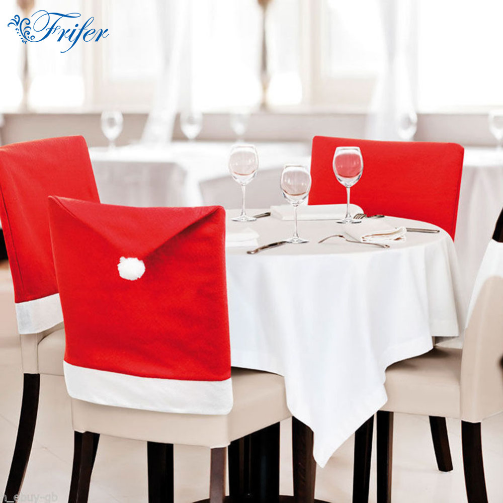 decorative chair covers for sale cream leather dining chairs 6pcs set hot santa clause red hat christmas dinner table party home decoraton cloth cover