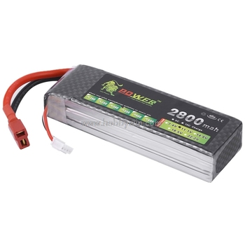 LION Power 11.1V 2800mAh 35C /98A LiPO battery T plug LiPO battery RC model Lipolyer pack