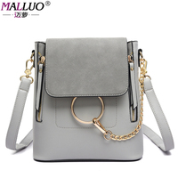 MALLUO Brand Women Backpacks Simple Girls School Bags Teenagers High Quality Fashion Women Backpack Preppy Style