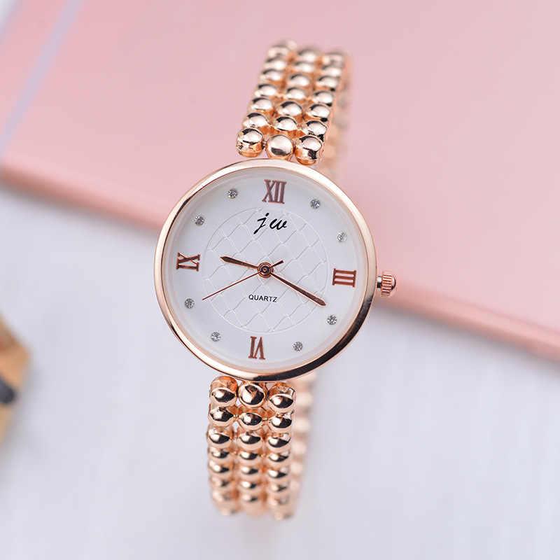 JW Marka Lüks Kristal Gül Altın Saatler Kadınlar Moda Bilezik quartz saat Kadın Elbise İzle Relogio Feminino orologio