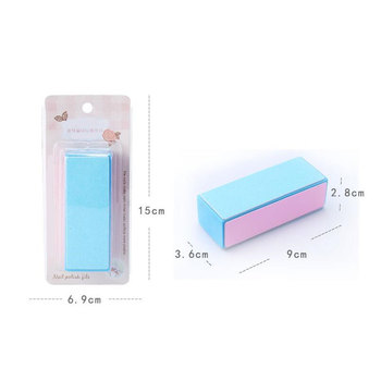 KESMALL New 4Pcs/Lot Sanding Sponge Nail File Buffer Nail Polish DIY Nail Art Manicure Tool Women Portable Beauty Tools XN149M 6