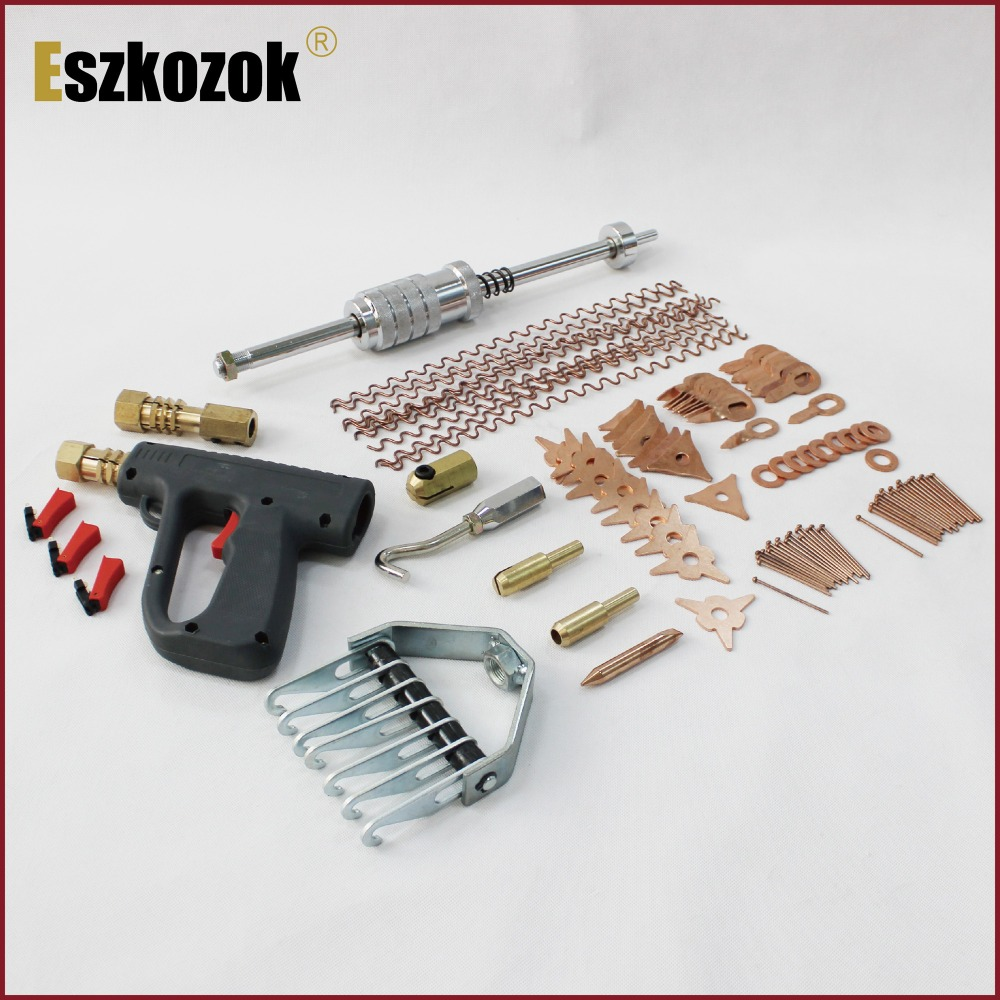 hand tools for auto dent puller car body repair dent removal remover gagage workshop bodywork dent pulling removing dents hammer 500pcs stud welder draw pin set for removing dents car body sheet metal 2 0mm