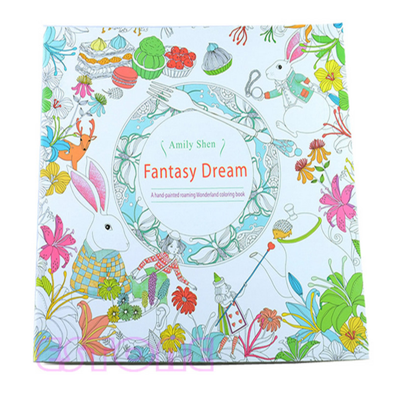 New Child Adult Fantasy Dream In Art Therapy Colouring Painting Books