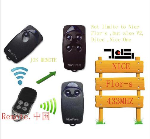 Nice FLOR-S replacement garage door remote control 433mhz rolling code free shipping