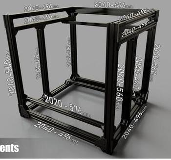 Express Shipping! Funssor BLV mgn Cube Frame kit  & Hardware Kit For DIY CR10 3D Printer Z height 365MM - discount item  5% OFF Office Electronics