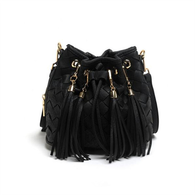 4eed574513d0 2016 New bags Hotsale promotion Tassel lady bucket bags