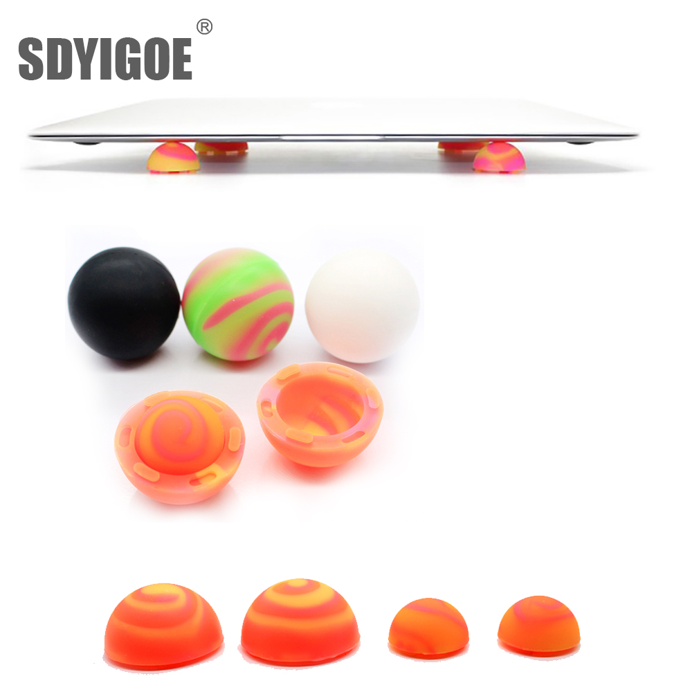 Portable Skidproof Silicone Cooling Stand Cooler Ball for Laptop PC Green