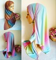 m2030 wholesale single jersey scarf wrap gradient ramp hot sale 165cm*55cm scarf  autumn Winter islamic hijab turban